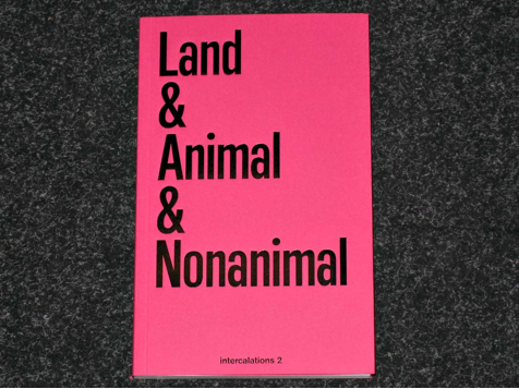 cover of book- pink reads land & animan & nonanimal