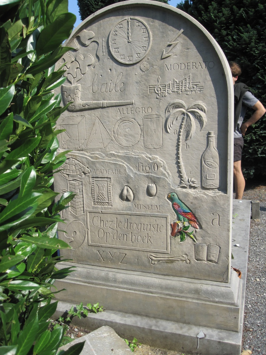 B's grave